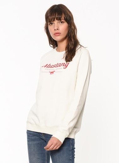 Mustang Sweatshirt Ekru